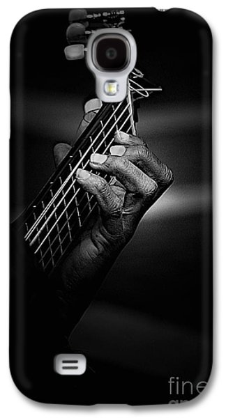 Hand Of A Guitarist In Monochrome Galaxy S4 Case by Avalon Fine Art Photography