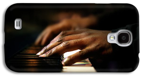 Pianist Photographs Galaxy S4 Cases - Hands playing piano close-up Galaxy S4 Case by Johan Swanepoel