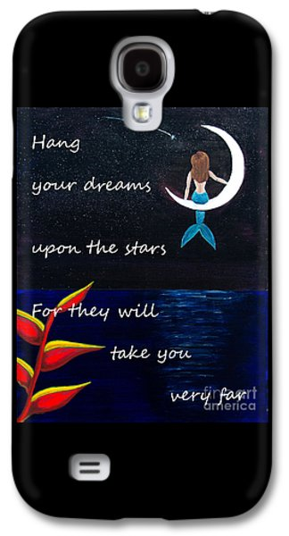 Constellations Paintings Galaxy S4 Cases - Hang Your Dreams Galaxy S4 Case by Teri Labrousse