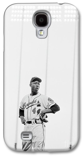 Hank Aaron On The Field, 1958 Galaxy S4 Case by The Harrington Collection