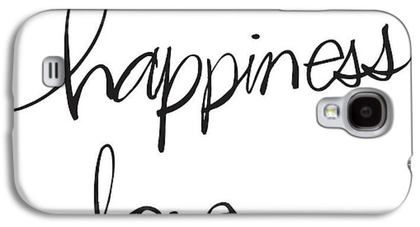 Hand Drawn Galaxy S4 Cases - Happiness And Love Lettering - Ai Galaxy S4 Case by Gillham Studios