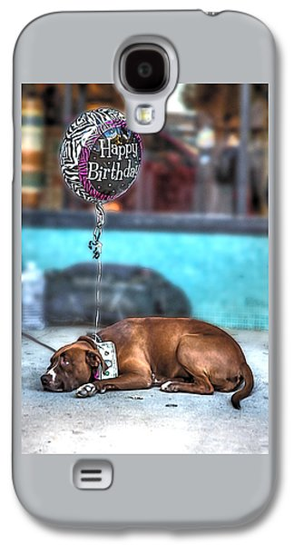 Dogs Digital Art Galaxy S4 Cases - Happy Birthday Dog Galaxy S4 Case by John Haldane