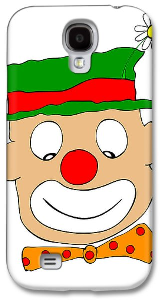Joyful Drawings Galaxy S4 Cases - Happy Clown Galaxy S4 Case by Michal Boubin