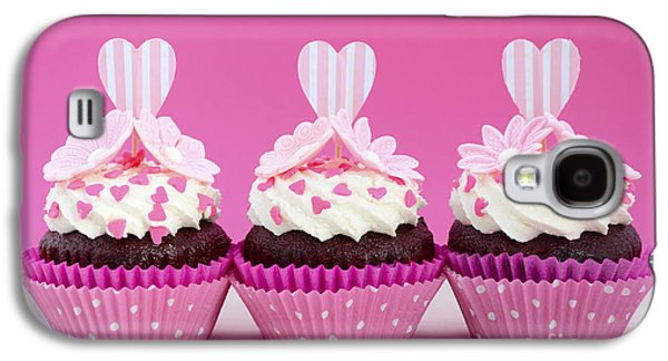 Fairy Hearts Pink Flower Galaxy S4 Cases - Pink and white cupcakes. Galaxy S4 Case by Milleflore Images