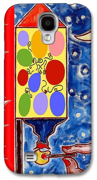 Fireworks Paintings Galaxy S4 Cases - Happy New Year 47 Galaxy S4 Case by Patrick J Murphy