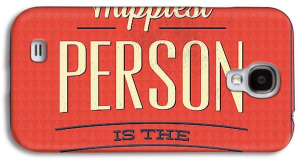 Happy Person Galaxy S4 Case by Naxart Studio