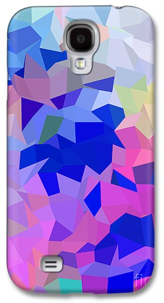 Colorful Abstract Galaxy S4 Cases - Happy Poly Galaxy S4 Case by Anita Fugoso