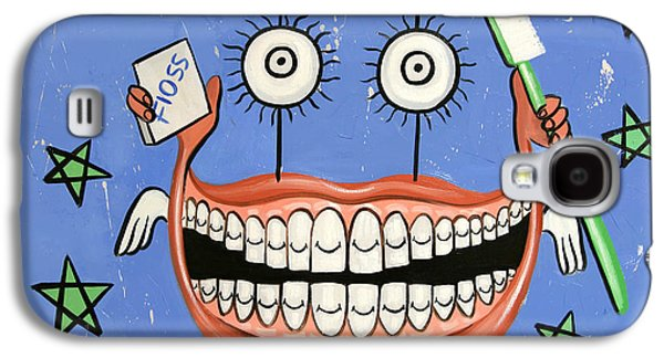 Digital Mixed Media Galaxy S4 Cases - Happy Teeth Galaxy S4 Case by Anthony Falbo