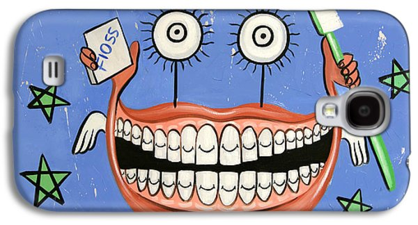 Happy Teeth Galaxy S4 Case by Anthony Falbo