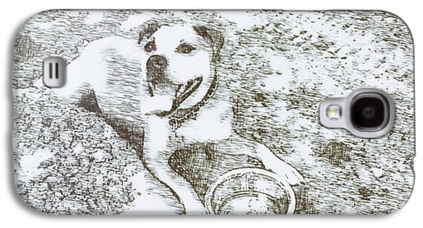 Puppies Galaxy S4 Cases - Happy to Live Galaxy S4 Case by Matilda Sue