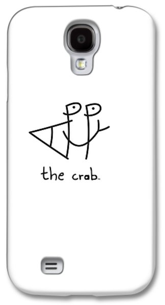 Smiling Mixed Media Galaxy S4 Cases - HappyTheCrab.com Galaxy S4 Case by Chris N Rohrbach