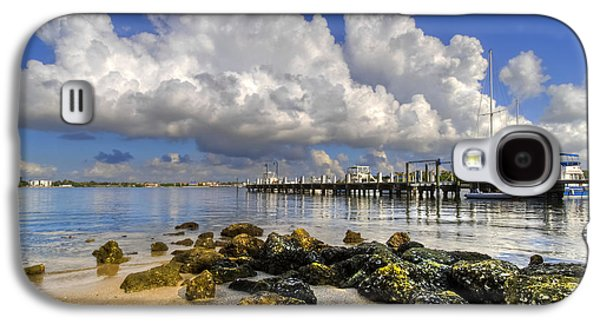 Sailboats At The Dock Galaxy S4 Cases - Harbor Clouds at Boynton Beach Inlet Galaxy S4 Case by Debra and Dave Vanderlaan