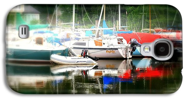 Boats In Harbor Galaxy S4 Cases - Harbor Masts Galaxy S4 Case by Diana Angstadt