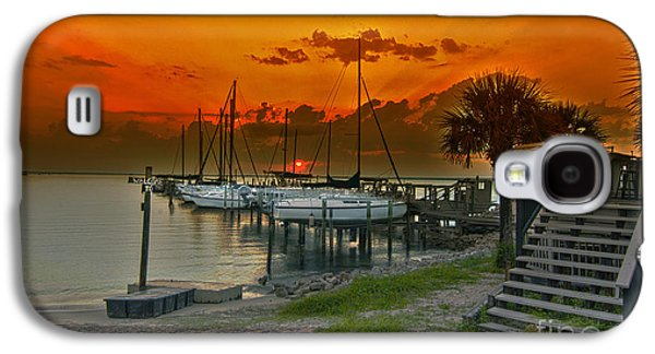 Transportation Tapestries - Textiles Galaxy S4 Cases - Harbor sunset  Galaxy S4 Case by James Hennis