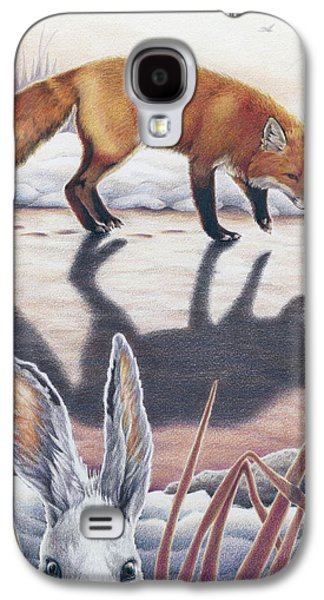 Preditor Galaxy S4 Cases - Hare Stands On End Galaxy S4 Case by Amy S Turner