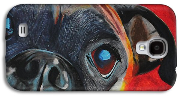 Boxer Pastels Galaxy S4 Cases - Harley Galaxy S4 Case by Ashley Huisman
