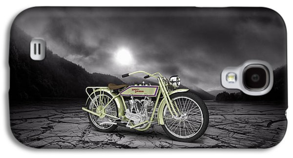 Mountain Valley Galaxy S4 Cases - Harley Davidson 11J 1915 Mountains Galaxy S4 Case by Aged Pixel