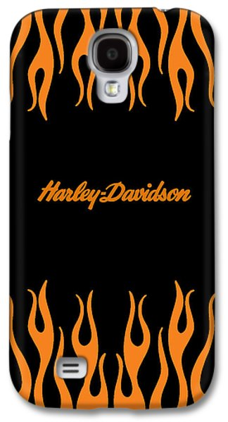 Flames Galaxy S4 Cases - Harley-Davidson Flames Phone Case Galaxy S4 Case by Mark Rogan