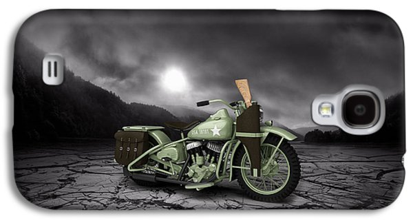 Mountain Valley Galaxy S4 Cases - Harley Davidson WLA 1942 Mountains Galaxy S4 Case by Aged Pixel