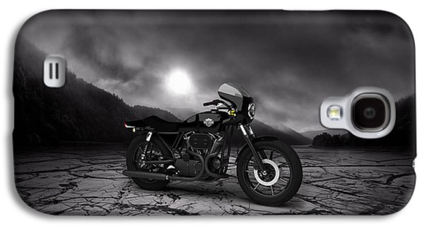 Mountain Valley Galaxy S4 Cases - Harley Davidson XLCR 1977 Mountains Galaxy S4 Case by Aged Pixel
