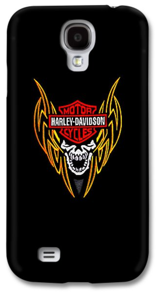Harley Davidson Galaxy S4 Cases - Harley Skull Phone Case Galaxy S4 Case by Mark Rogan