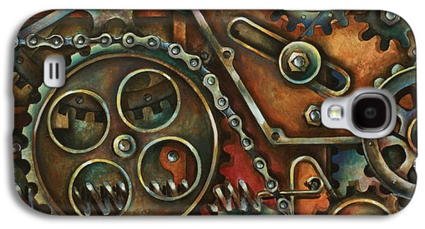 Machinery Galaxy S4 Cases - Harmony Galaxy S4 Case by Michael Lang