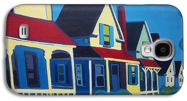 Maine Roads Paintings Galaxy S4 Cases - Harpswell Cottages Galaxy S4 Case by Debra Bretton Robinson