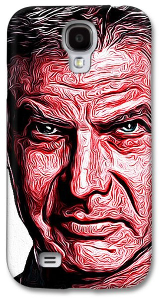 Stallone Digital Galaxy S4 Cases - Harrison Ford Galaxy S4 Case by Gene Spino