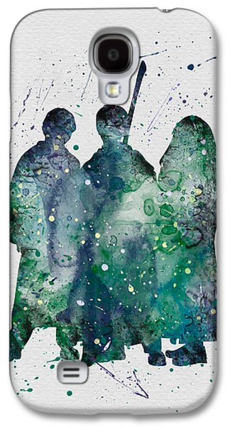 Hermione Granger Galaxy S4 Cases - Harry Ronald and Hermione Watercolor  Galaxy S4 Case by Vivid Editions