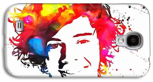 Harry Styles Paint Splatter Galaxy S4 Case by Dan Sproul