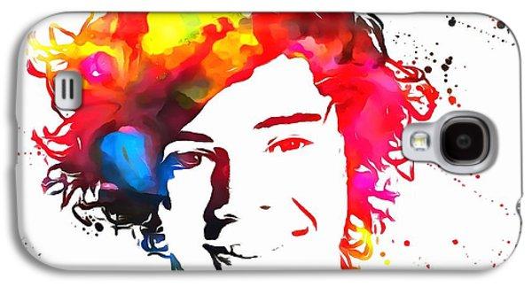 Taylor Swift Galaxy S4 Cases - Harry Styles Paint Splatter Galaxy S4 Case by Dan Sproul