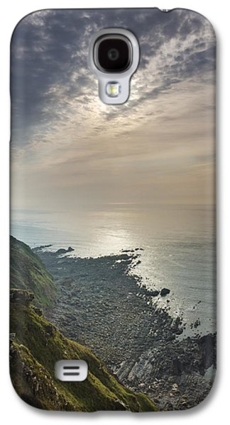 Beach Landscape Galaxy S4 Cases - Hartland Point Light Galaxy S4 Case by David Taylor