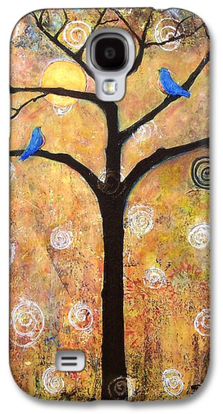 Picture Paintings Galaxy S4 Cases - Harvest Moon Galaxy S4 Case by Blenda Studio