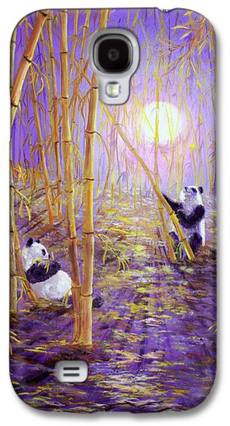 Harvest Moon Pandas  Galaxy S4 Case by Laura Iverson