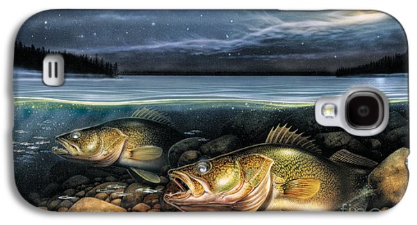 Walleye Galaxy S4 Cases - Harvest Moon Walleye 1 Galaxy S4 Case by JQ Licensing
