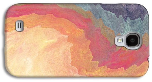 Abstract Landscape Galaxy S4 Cases - Harvest Wind- Abstract Art by Linda Woods Galaxy S4 Case by Linda Woods