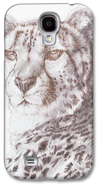 Cheetah Drawings Galaxy S4 Cases - Haste Galaxy S4 Case by Barbara Keith
