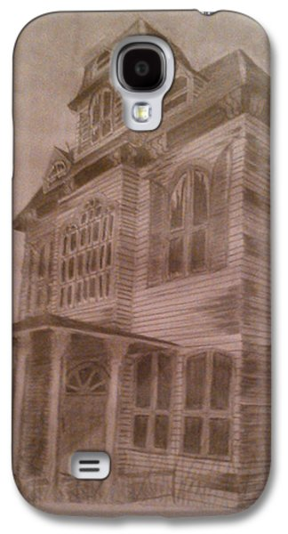 Haunted House Drawings Galaxy S4 Cases - Haunted House 1 Galaxy S4 Case by Sonya Ball