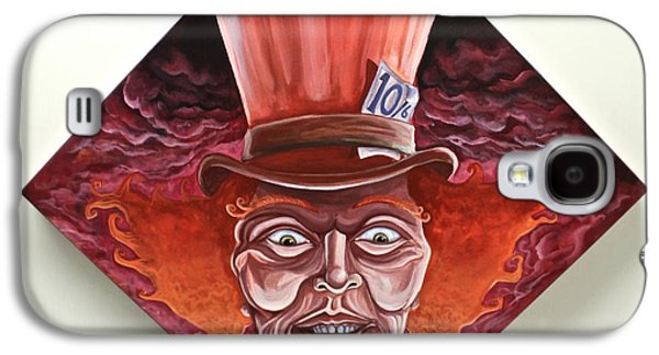 Mad Hatter Paintings Galaxy S4 Cases - Have I Gone Mad? Galaxy S4 Case by Alex Kirouac