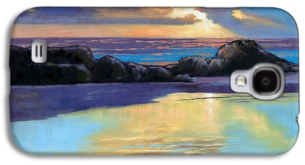 Janet King Galaxy S4 Cases - Havik Beach Sunset Galaxy S4 Case by Janet King