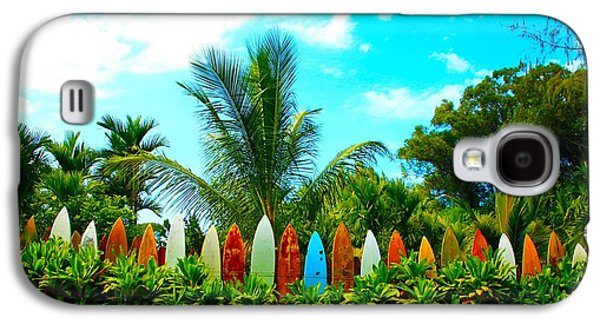Brown Print Galaxy S4 Cases - Hawaii Surfboard Fence Photograph  Galaxy S4 Case by Michael Ledray