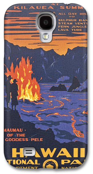 Hawaii Vintage Travel Poster Galaxy S4 Case by Georgia Fowler