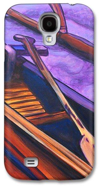 Canoe Paintings Galaxy S4 Cases - Hawaiian Canoe Galaxy S4 Case by Marionette Taboniar