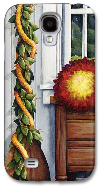 """""""indoor"""" Still Life Paintings Galaxy S4 Cases - Hawaiian Still Life Panel Galaxy S4 Case by Sandra Blazel - Printscapes"""