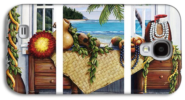 """""""indoor"""" Still Life Paintings Galaxy S4 Cases - Hawaiian Still Life with Haleiwa on My Mind Galaxy S4 Case by Sandra Blazel - Printscapes"""
