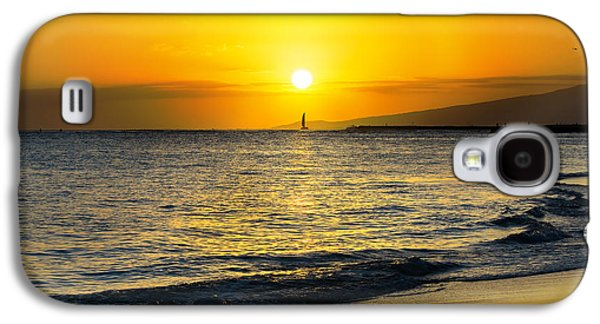Landscape Acrylic Prints Galaxy S4 Cases - Hawaiian Sunset Galaxy S4 Case by MaryJane Armstrong