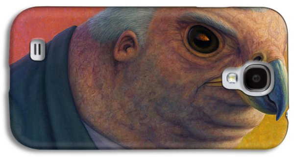 Politician Paintings Galaxy S4 Cases - Hawkish Galaxy S4 Case by James W Johnson
