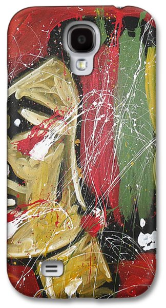 Chicago Paintings Galaxy S4 Cases - Hawks Galaxy S4 Case by Elliott From