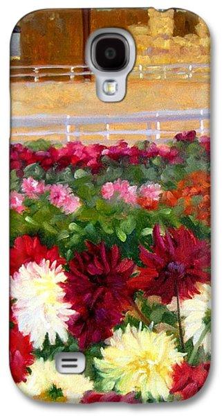 Hay Bales And Dahlias Galaxy S4 Case by Deborah Cushman