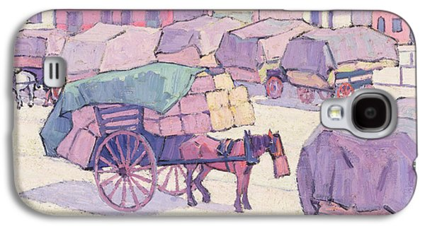 Hay Carts - Cumberland Market Galaxy S4 Case by Robert Polhill Bevan